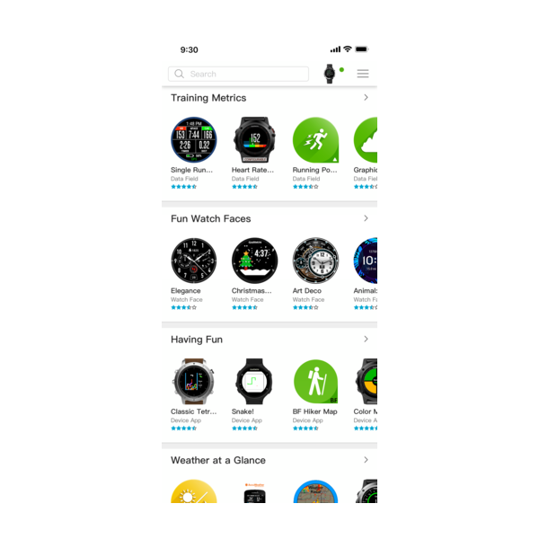 Connect IQ Store