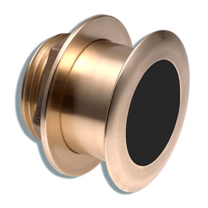 Bronze Tilted Thru-hull Transducer with Depth & Temperature (20° tilt, 8-pin) - Airmar B164