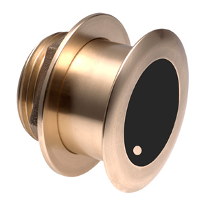 Bronze Tilted Thru-hull Transducer with Depth & Temperature (20° tilt, 8-pin) - Airmar B175H